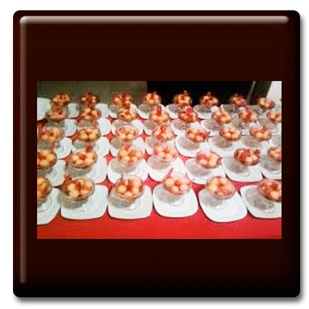 Perlas de melón al oporto